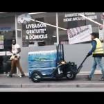 Tire palette électrique, tire-palette tout terrain. CartCity, innovation TRANSMANUT l'allié des livraisons urbaines et semi urbaines